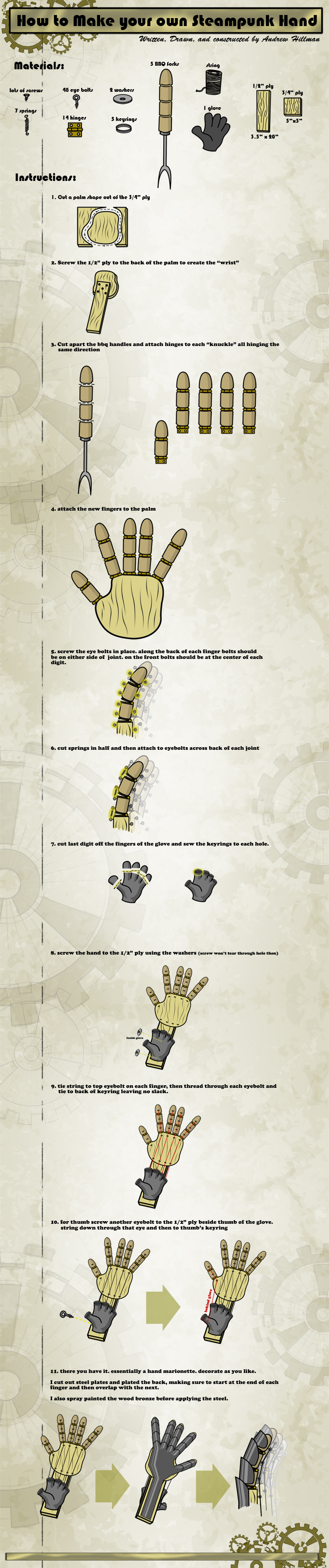 diy-steampunk-mechanical-hand-chart